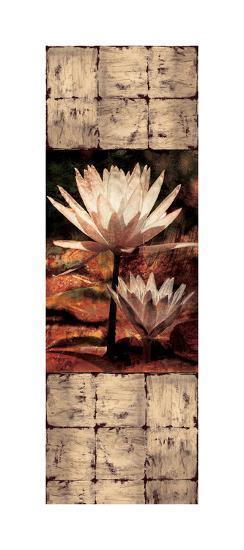 Waterlily Panel II-John Seba-Giclee Print