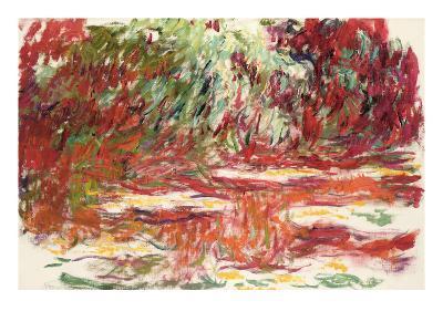 Waterlily Pond, 1918-19-Claude Monet-Giclee Print