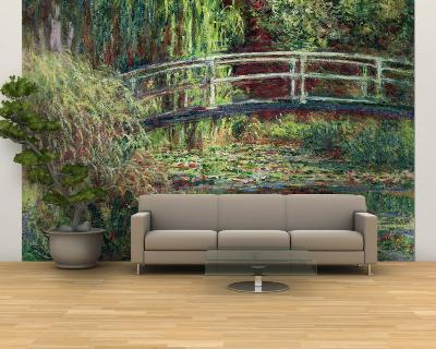 Waterlily Pond: Pink Harmony, 1900-Claude Monet-Wall Mural – Large