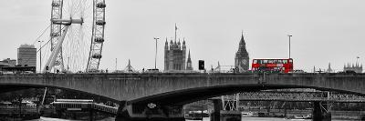 Waterloo Bridge and London Eye - Big Ben and Millennium Wheel - River Thames - City of London - UK-Philippe Hugonnard-Photographic Print