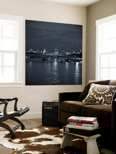 Waterloo Bridge and River Thames, London, England-Jon Arnold-Wall Mural