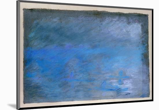 Waterloo Bridge, Brouillard, Pastel on Blue Paper 1901-Edgar Degas-Mounted Premium Giclee Print