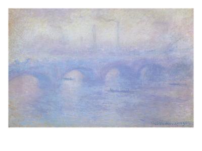 Waterloo Bridge: Effect of Mist, 1903-Claude Monet-Giclee Print