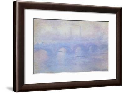 Waterloo Bridge: Effect of Mist, 1903-Claude Monet-Framed Giclee Print