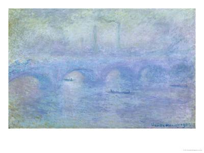 Waterloo Bridge: Effect of the Mist, 1903-Claude Monet-Giclee Print