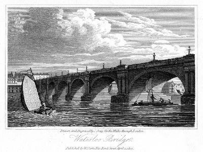 Waterloo Bridge, London, 1817-J Greig-Giclee Print