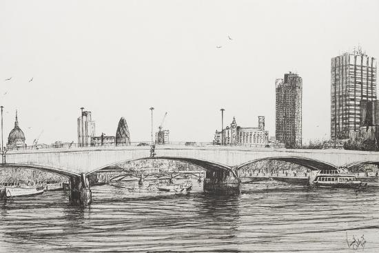 Waterloo Bridge, London-Vincent Booth-Giclee Print