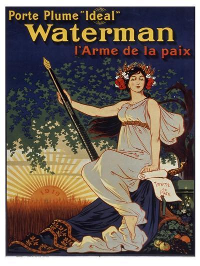 Waterman Pen--Giclee Print