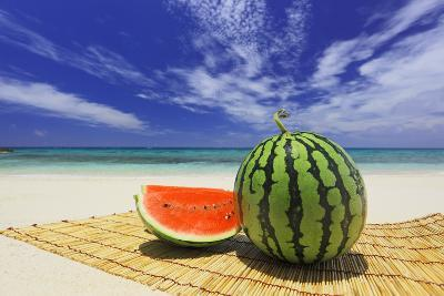 Watermelon on Placemat-imagewerks-Photographic Print