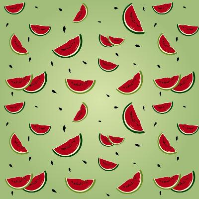 Watermelon Pattern-AnaMarques-Art Print