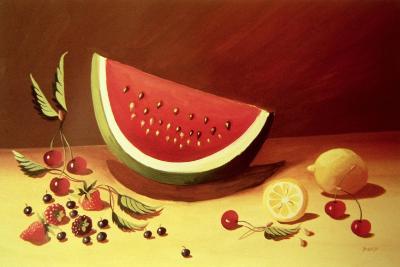 Watermelon-Dory Coffee-Giclee Print