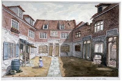 Watermen's Almshouses in Queen's Arms Court, Upper Ground Street, Southwark, London, 1839--Giclee Print