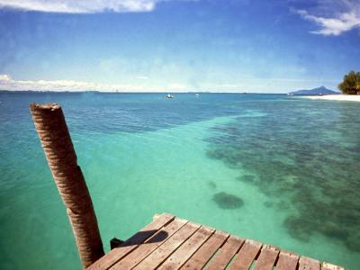 Waters of Pulau Babi Besar Seen from Jetty Islands Malaysia, 1990s--Photographic Print