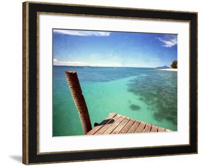 Waters of Pulau Babi Besar Seen from Jetty Islands Malaysia, 1990s--Framed Photographic Print