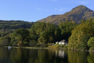 Waterside Cottage, Inveruglas, Loch Lomond, Stirling, Scotland, United Kingdom, Europe-Peter Richardson-Photographic Print