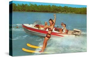 Waterskiing on the Lake, Retro