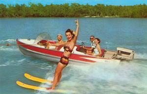 Waterskiing on the Lake