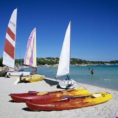 Watersports on Beach, Plage De Santa Giulia, Southeast Coast, Corsica, France, Mediterranean, Europ-Stuart Black-Photographic Print