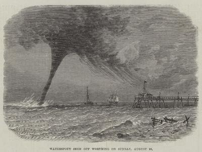 Waterspout Seen Off Worthing on Sunday, 21 August--Giclee Print