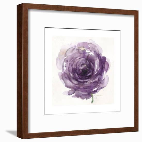 Watery Plum Bloom 2-Sandra Smith-Framed Art Print