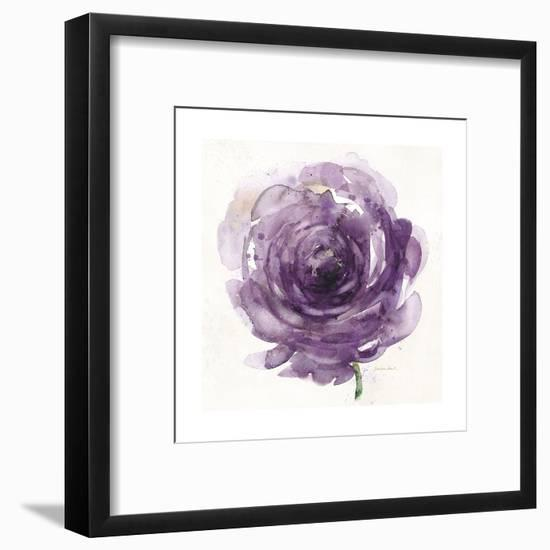 Watery Plum Bloom 2-Sandra Smith-Framed Art Print