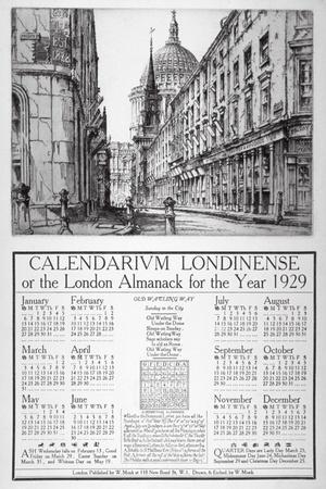 Watling Street, City of London, 1928-William Monk-Giclee Print