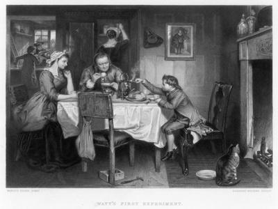Watt's First Experiment, 18th Century-Herbert Bourne-Giclee Print