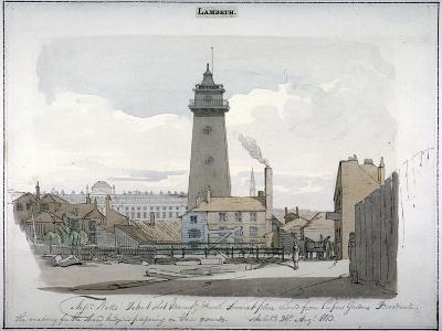 Watt's Shot Tower, Lambeth, London, 1813--Giclee Print