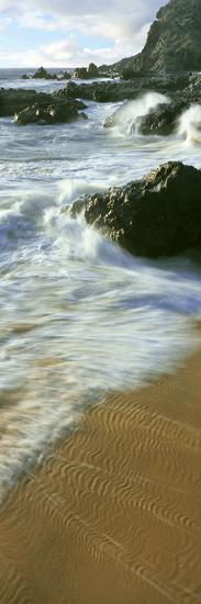 Wave and Sand Patterns on Beach, Cerritos Beach, Baja California Sur, Mexico--Photographic Print
