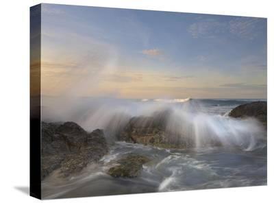 Wave breaking, Playa Langosta, Guanacaste, Costa Rica-Tim Fitzharris-Stretched Canvas Print