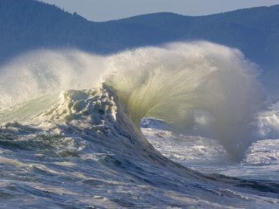 Wave Curl in Winter Storm-Craig Tuttle-Photographic Print