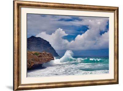 Wave Hello-Dennis Frates-Framed Photographic Print