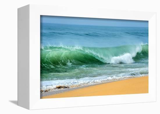 Wave of the Ocean-byrdyak-Framed Stretched Canvas Print
