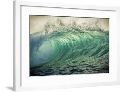 Wave Photo at Papohaku Beach, West End, Molokai, Hawaii-Richard Cooke III-Framed Photographic Print