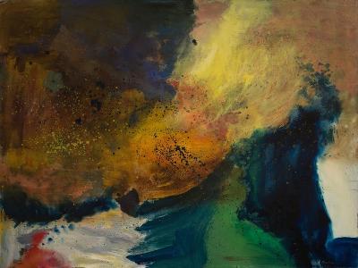 Wave with Green-Robin Maria-Art Print