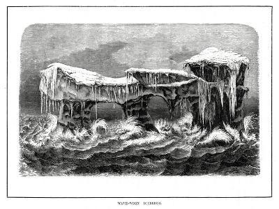 Wave-Worn Icebergs, 1877--Giclee Print