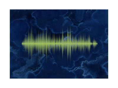 Waveform On The Sea Themed Background-Swill Klitch-Art Print