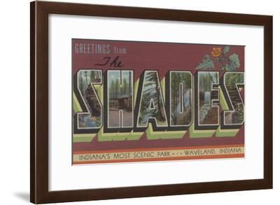 Waveland, Indiana - The Shades-Lantern Press-Framed Art Print