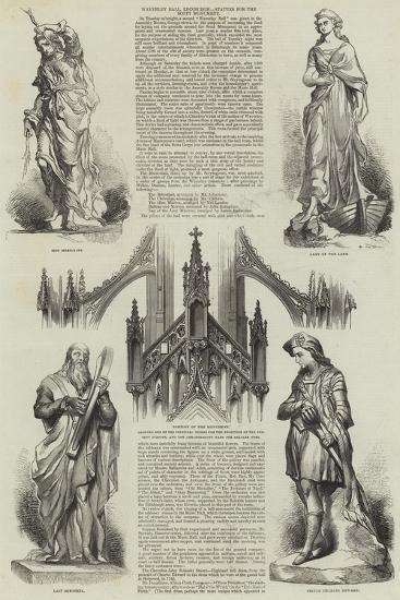 Waverley Ball, Edinburgh, Statues for the Scott Monument--Giclee Print
