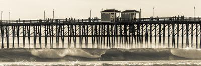 Waves at the Oceanside Pier in Oceanside, Ca-Andrew Shoemaker-Photographic Print