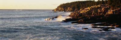 Waves Breaking Against the Rocks, Otter Beach, Acadia National Park, Maine, New England, UK, USA--Photographic Print