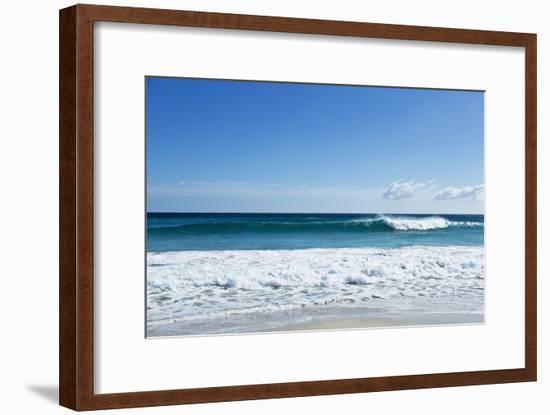 Waves Breaking at Beach-Norbert Schaefer-Framed Photographic Print