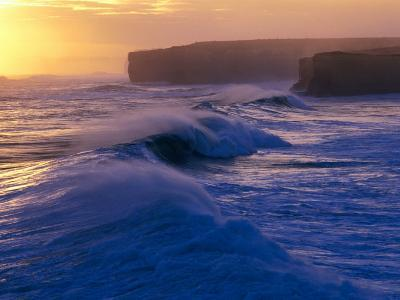 Waves Breaking off the Coast of the Port Campbell National Park, Australia-Rodney Hyett-Photographic Print