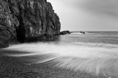 Waves Breaking on Black Sand Beach-Arctic-Images-Photographic Print