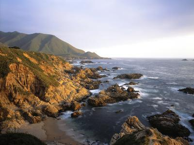 Waves Breaking on Garrapata Beach on the Big Sur Coast of California--Photographic Print