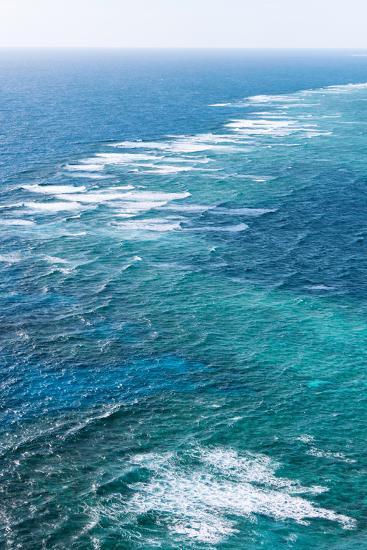 Waves Breaking on Great Barrier Reef, Queensland, Australia--Photographic Print