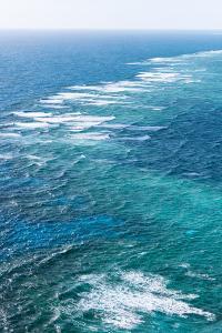 Waves Breaking on Great Barrier Reef, Queensland, Australia