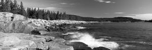 Waves Breaking on Rocks at the Coast, Acadia National Park, Schoodic Peninsula, Maine, USA