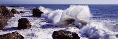 Waves Breaking on the Coast, Santa Cruz, Santa Cruz County, California, USA--Photographic Print