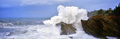 Waves Breaking on the Coast, Shore Acres State Park, Oregon, USA--Photographic Print